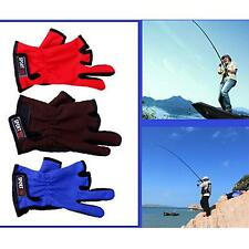 Stylish Professional High-quality 3 Cut Finger Fishing Gloves Non-Slip Gloves