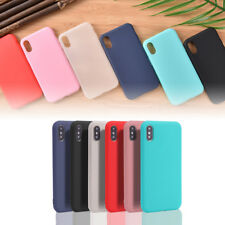Ultra Thin Candy Color Matte Shockproof TPU Case Cover Skin For iPhone^