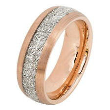 Men 8MM Comfort Fit Tungsten Carbide Wedding Band Rose Tone Ring