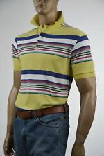 Ralph Lauren Classic Fit Yellow Multi-Colored Stripe Mesh Polo Shirt Pony-NWT