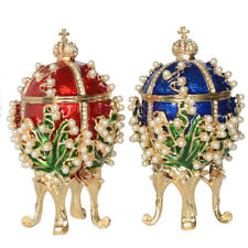 Faberge Trinket Box Hinged Russian Faberge Egg Easter Egg Necklace Russian Box