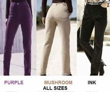 SIMPLY BE LADIES PURPLE BEIGE INK BLACK BOOTCUT-STRAIGHT LEG STRETCH CORDS JEANS