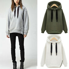 UK Womens Oversize Hooded Hoodies Ladies Casual Loose Tops Pullover Sweatshirt