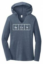 Bacon Periodic Table Funny Bacon Lover Science Shirt Ladies Hoodie T-Shirt