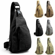 Mens Military Canvas Satchel Shoulder Bag Travel Hiking Backpack Messenger Bag 8