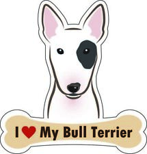 Dog Bone Magnet I Love My Bull Terrier Car Sign Puppy Made in USA Buy2Get3rdFree