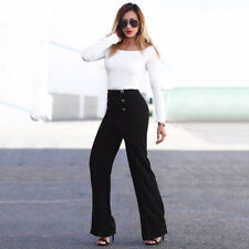 Flared Trousers Wide Leg Pants Suit Pants Womens High Waist Strech