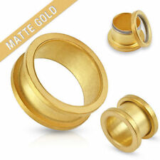 Flesh Tunnel Screw Tunnel Plug Matt Gold 10685.2oz Stainless Steel Ear Piercing