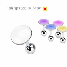 Tragus Helix Cartilage Barbell Piercing Ear Stainless Steel 316L Changes colour