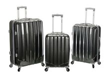 Spinner Luggage Set 3pc Upright Durable 50% Polycarb 50% ABS Lightweight Travel