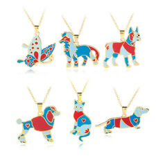 Metal Alloy Enamel Pet Dog Choker Necklace Chain Pendant Collar Necklace/Jewelry