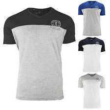 Crosshatch Men's T-Shirt keemar CH Panelled T Two Cols V-Neck Short Sleeve