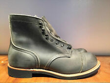 RED WING BOOT IRON RANGER CHARCOAL ROUGH & TOUGH LEATHER 8086 MADE IN THE USA