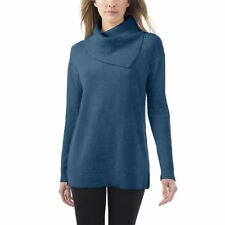 NWT Celeste Womens Wool Cashmere Blend Turtleneck Sweater Top Dusty Teal Variety