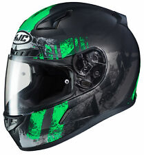 HJC Adult Green/Black CL-17 Arica Motorcycle Full Face Helmet Snell DOT