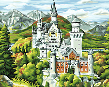"""16X20"""" Castle Paint By Number DIY Acrylic kit Oil Painting On Canvas 2160"""
