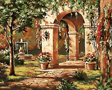 """16X20"""" Green corridor Paint By Number DIY Acrylic kit Oil Painting Canvas 2171"""
