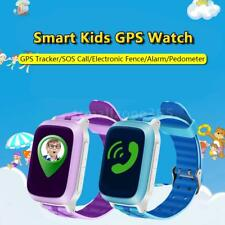 "1.44"" LCD Smart Watch Phone GPS Tracker Kids Children SOS Locator Finder P0A1"