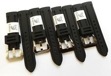 Taurus 22mm Soft Silicone Watch Band PreV Buckle For Panerai Luminor 40mm PAM