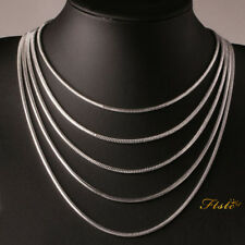 """New 3mm Silver Sterling 925 Snake Chain Necklace Length 16"""" 18"""" 20"""" 22"""" 24"""" UK"""