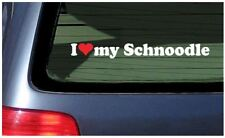 I Love My Schnoodle Sticker Vinyl Decal Car Window Dog Puppy  heart Poodle breed