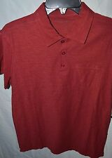 NEW $60 State Vintage Apparel Rogue Wash Polo Brick Red Nordstrom Pima Cotton