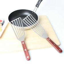 Professional Fish Spatula- Stainless Steel Slotted Turner with Wood Handle