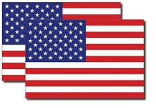 2x REFLECTIVE USA American Flag Decal 3M Stickers Exterior Various Sizes