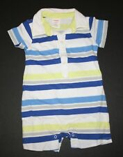 New Gymboree Striped Polo Romper NWT 0-3m 3-6m 6-12m 12-18m 18-24m Little Blue