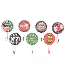 retro metal sign tin beer bottle cap cover hook pub bar club cafe home wall^v^