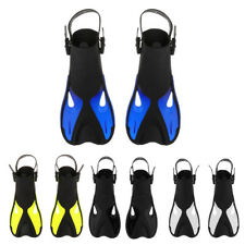Adjustable Adult Open Heel Scuba Dive Snorkeling Swim Traning Fins Flippers