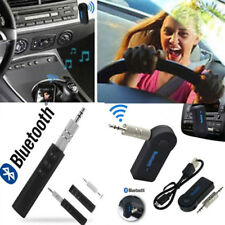 Mic Wireless Bluetooth 3.5mm AUX Audio Stereo Music Home Car Receiver Adapter