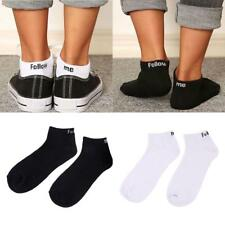 Mens Ankle Socks Low Cut Sports Gym Casual Socks Cotton Black White