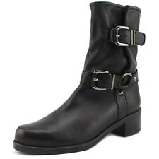 Stuart Weitzman Ranger Women  Round Toe Leather Black Mid Calf Boot