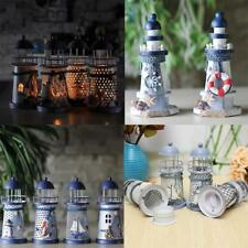 Handcrafted Light houses Model Tealight Candle Holder Home Decor Christmas Gift