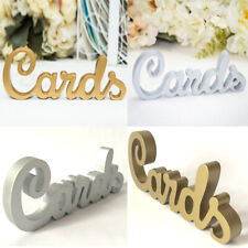 """""""Cards"""" MDF Freettanding Wooden Sign Rustic Wedding Party Gift Favor Home Decor"""