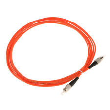 Multi Mode Single Core Electric Fiber Optic Jumper Cable Wire FC-FC Orange