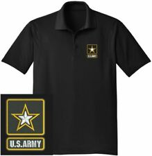 US Army Black Embroidered Moisture Wicking DRYFIT Polo Shirt  FREE SHIPPING!!!