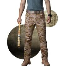 Mens Cotton Military Combat Cargo Pants Work Camouflage ARMY Green Camo Trousers