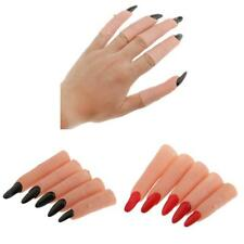 5pcs Funny Witch Nail Fake Witch Costume Fingers Christmas Masquerade Party Prop