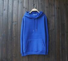New Popular Unisex Young Cotton Design Long Sleeves Blue Color Sweats