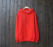 New Popular Unisex Young Cotton Design Long Sleeves Red Color Sweats