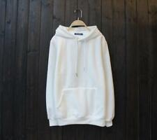 New Popular Unisex Young Cotton Design Long Sleeves White Color Sweats