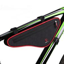 Large Capacity Bike Front Tube Bag Panniers Bicycle Triangle Frame Bag Pouch