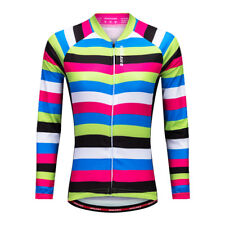 Womens Long Sleeve Thermal Cycling Jersey Bicycle Sports Wear Riding Shirts
