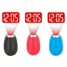 Mini Portable LCD Projector Wall Projection Clock Digital Tiny Clock Toys