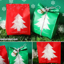 50pcs Christmas Candy Paper Bags Sweet Favour Xmas Gift Party Sweet Cake Wedding