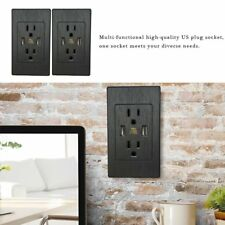 2x Dual USB Port Wall Socket Charger Power Receptacle Outlet Plate Panel US Plug