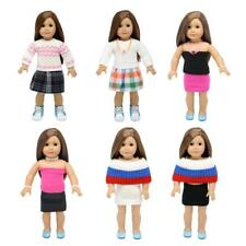 Knitted Sweater Winter Outfit Clothes for 18inch American Girl Dolls Skirt Dress