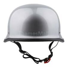 Low Profile German Novelty Silver Motorcycle Half Helmet for Cruiser